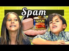 FineBros:Kids react to Spam(Kids Vs Food)