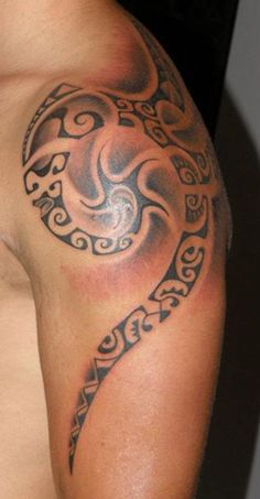 Maori Polynesian Arm Tattoo for Men