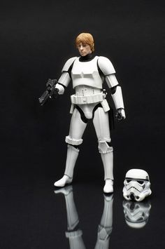 "Hasbro - Star Wars: The Black Series - 6"" - Luke Skywalker in Stormtrooper disguise"
