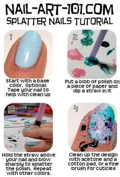 Splatter Nails Tutor