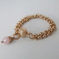 Armband 925-Sterlingsilber rosévergoldet Rosenquarzsteinchen › perlaprincipessa - Modeschmuck, Armschmuck, Silberschmuck, Brautschmuck   #style #follow #cool #fashion #pretty #sweet  #beautiful  #perlaprincipessa #jewelry #fashionjewelry #bracelet #beauty #chic #jewelrydesign #vintage #art #ethno #gemstone #schmuck Hippie Style, Armband Rosegold, Necklaces, Bracelets, Vintage Art, Gold Necklace, Jewelry Design, Fashion Jewelry, Gemstones