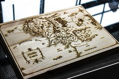 Middle Earth Laser Engraved Map 11.5 X 8.5