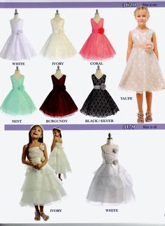 Lovely dress styles for any Wedding or Special Occasion.