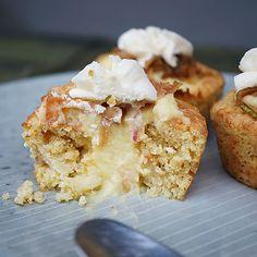 Æblecupcakes med vaniljecreme