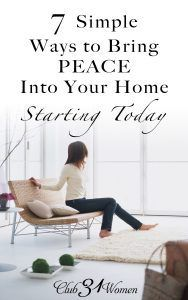 7 Simple Ways to Bring Peace into Your Home