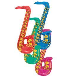 Aufblasbares Saxophon | Photobooth Zubehör | Dekoration | Pink Dots - Partystore