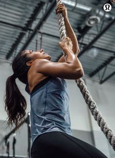 Reach new heights—lululemon gear is designed for sweaty workouts.
