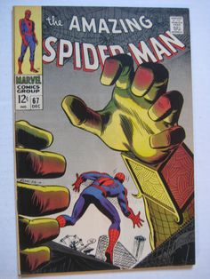 Vintage Old Collectible Marvel Comic Book Amazing Spiderman 67 VF | eBay