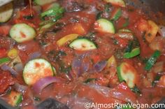Ratatouille – Almost Raw Vegan pinned with Pinvolve