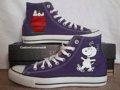 Snoopy Converse All Stars by CustomConverseUK on Etsy, £65.00