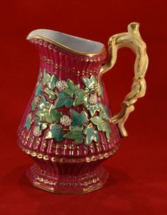 Antique Wedgwood Majolica Pearl Ware Jug/Pitcher by BBELASHOI