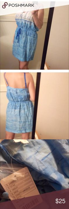 Anthropologie blue sundress L Anthropologie blue sundress. Large. New. Light-weight fabric, not polyester. Have to look up. Stretchy waist. Super cute! Anthropologie Dresses Midi
