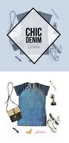 JW is going away from boring plain denim clothing to unique & colorful patched, painted, embellished JW Summer outfits. This Chic Denim dress with tassel details at the neckline looks so versatile and can instantly bring the Go getter girl feeling in you ;)