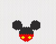 Mickey Bead Pattern | Peyote Bead Patterns | Characters Bead Patterns