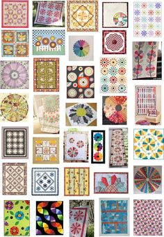Free patterns for Dresden Plate Quilts.  September 2015 update.