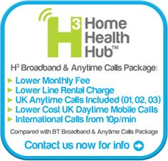 Home Health Hub Telecoms Pricing Information