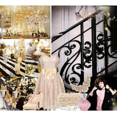 New year dream party ball by katie-styles4u on Polyvore featuring Chi Chi, Qupid, Kate Spade, Susan Caplan Vintage, BERRICLE, Riedel, OneDirection, directioner and newyearsday