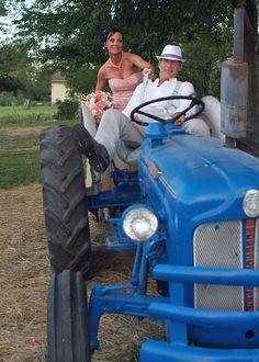 Rustic wedding, country wedding, vintage wedding, tractor
