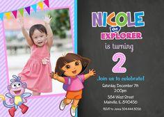Dora the Explorer Birthday Party Invitation by PrettyPaperPixels