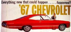 Chevrolet Cars & Trucks - Vintage Billboard Advertising  1967