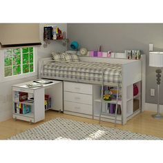 Rack Furniture Clairmont Loft bed,White - Cute and about 900 bucks shipped