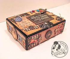 Awesome altered box by Kristin Wilson using French Country! #graphic45 #alteredart