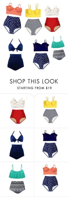 """""""Swim"""" by rloc ❤ liked on Polyvore featuring Mix & Match"""