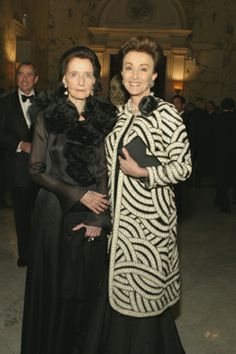 "Jane Wrightsman (b.1919) & Mercedes Bass at the 2007 Royal Oak Gala - In 2007, Royal Oak Foundation, Americans in Alliance with the National Trust of England, Wales & Northern Ireland - honored The Dowager Duchess of Devonshire with its Timeless Design Award for her dedicated and innovative stewardship of Chatsworth, home of the Duke and Duchess of Devonshire. Chatsworth is one of Britain's most visited and admired ""treasure houses"" located in Derbyshire."