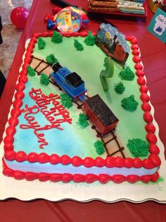 Thomas The Train Birthday Cake.