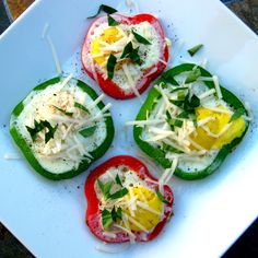 Karis' Kitchen: Fried Eggs in Bell Peppers