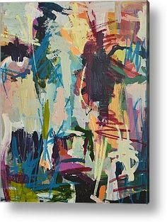 Modern Abstract Cow Painting Metal Print by Robert Joyner