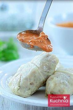 Sos pomidorowo-śmietanowy do gołąbków, mięs, ryżu i ziemniaków… Polish Recipes, Polish Food, Dressing, Cucumber, Food And Drink, Appetizers, Meals, Sauces, Dinner