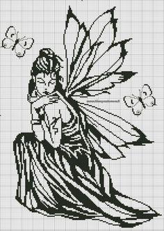 Cross-stitch Silhouette Fairy pattern... Gallery.ru / Фото #16 - Архив (35) - Olgakam