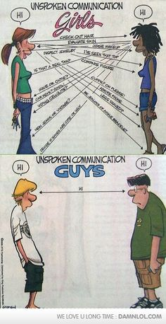 unspoken communication- so true! And this is why I have more men more than women bff's