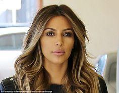 Perfect Highlights Kim Kardashian hair