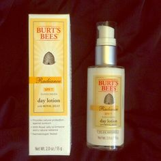 NWT Burt's Bees Radiance SPF Day Lotion 98.2% NAT. Brand New In Box Burt's Bees Radiance SPF 7 Sunscreen day lotion with Royal Jelly.  Provides natural protection against sunburn, with Royal Jelly to enhance skin's natural radiance and Dermatologist tested. 98.2% NATURAL!  If you have any questions feel free to ask!  Thanks for looking! Make an offer! BUNDLE 3 items in my Closet and receive 30% off at Checkout All purchases Come with a surprise gift! Thanks for shopping Posh!  Burt's Bees…