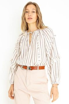 LIANA BLOUSE Abbot Kinney Blvd, Ulla Johnson, Blouse, Swimwear, Collection, Women, Fashion, Blouse Band, Bathing Suits