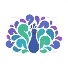 Abstract Peacock Illustration