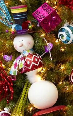 Peppermint Playland decor and  Christmas tree ornaments...love pier 1 ornaments