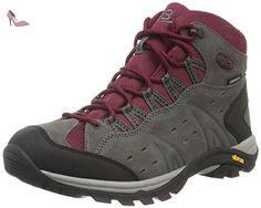Bruetting Mount Bona High, Chaussures de Randonnée Hautes Femme, Gris (Grau/Bordeaux), 42 EU - Chaussures brtting (*Partner-Link)