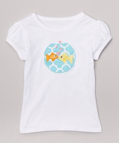 Look at this White & Blue Fish Bowl Tee - Infant, Toddler & Girls on #zulily today!