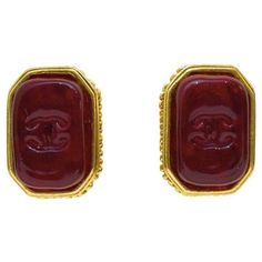 Rectangle Red Poured Glass Earrings ($550) ❤ liked on Polyvore featuring jewelry, earrings, red jewellery, earring jewelry, rectangle earrings, red jewelry and red earrings