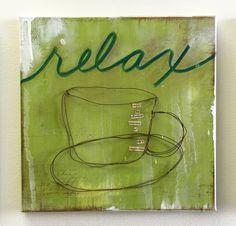 "ORIGINAL CANVAS ""wire"" series Relax"