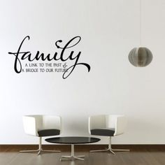 """#DiwaliDecor #FabFurnish Wall sticker for the dining hall.Perfectly describes the happiness of eating together as a  family. From fabfurnish """"My Wall Family A Link To The Past Black Wall Decal"""""""