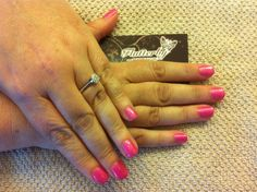 Pink neon shellac and pink sparkle Addative
