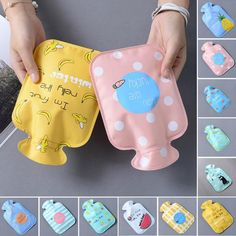 Portable Mini Hot Water Bags Winter heater Fresh Novelty Cartoon Cat Strawberry Floral Cactus Girl Pocket Safe Warmer bags 45