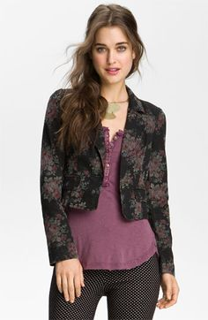 Free People Floral Crop Blazer available at #Nordstrom