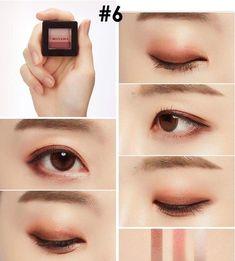 Trendy Makeup Goals Tutorials Make Up Ideas Korean Makeup Look, Korean Makeup Tips, Asian Eye Makeup, Korean Makeup Tutorial Natural, Asian Eyeshadow, Dark Eyeshadow, Makeup Eyeshadow, Makeup Cosmetics, Face Makeup