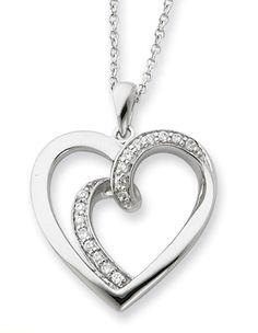 applesofgold.com - Soulmate Sterling Silver Heart Pendant