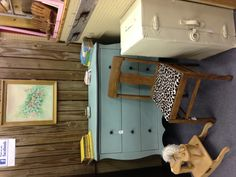 Shabby blue and black dresser available in our booth in The Craft Gallery in Waco, TX or through our Facebook page: The Birch Tree